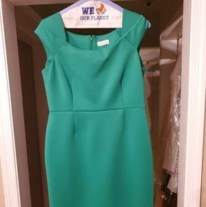 Kelly Green Calvin Klein Scuba Dress size 14